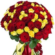 101 red and yellow roses - flowers and bouquets on roza.kharkov.ua