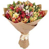 25 альстромерий в бумаге - цветы и букеты на roza.kharkov.ua