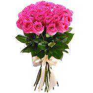 25 pink imported roses - flowers and bouquets on roza.kharkov.ua