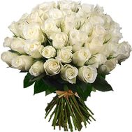 51 white imported rose - flowers and bouquets on roza.kharkov.ua
