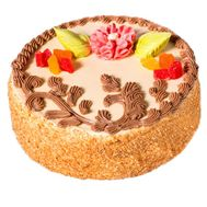 Бисквитный торт - цветы и букеты на roza.kharkov.ua