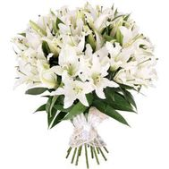 Large bouquet of lilies - flowers and bouquets on roza.kharkov.ua