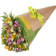 Bouquet of alstroemerias in original packing - flowers and bouquets on roza.kharkov.ua
