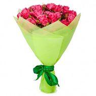 Чудесный букет из розовых кустовых роз - цветы и букеты на roza.kharkov.ua
