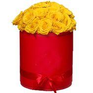 Коробка из желтых роз - цветы и букеты на roza.kharkov.ua