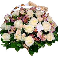 Basket of flowers for the Wedding - flowers and bouquets on roza.kharkov.ua