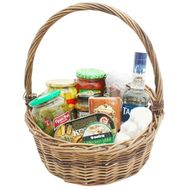 Food basket for gift - flowers and bouquets on roza.kharkov.ua