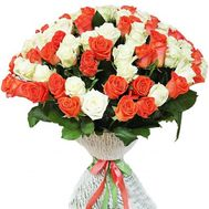 A creative bouquet of 101 roses - flowers and bouquets on roza.kharkov.ua