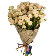 Cream roses spray in bouquet - flowers and bouquets on roza.kharkov.ua