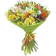 Летний букет альстромерий - цветы и букеты на roza.kharkov.ua