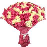 Милый букет из 101 розы - цветы и букеты на roza.kharkov.ua