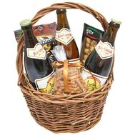 Men's basket with beer and snacks - flowers and bouquets on roza.kharkov.ua