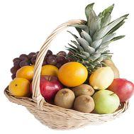Fruit gift basket - flowers and bouquets on roza.kharkov.ua