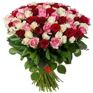 A delightful bouquet of 101 roses - flowers and bouquets on roza.kharkov.ua
