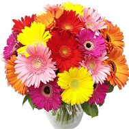 Bright bouquet of gerberas - flowers and bouquets on roza.kharkov.ua