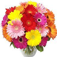 Яркий букет гербер - цветы и букеты на roza.kharkov.ua