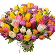 Огромный букет тюльпанов - цветы и букеты на roza.kharkov.ua