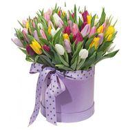 Большая коробка с тюльпанами - цветы и букеты на roza.kharkov.ua