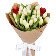 A bouquet of white tulips for your beloved - flowers and bouquets on roza.kharkov.ua