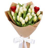 Букет белых тюльпанов для любимой - цветы и букеты на roza.kharkov.ua