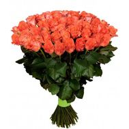 101 orange rose - flowers and bouquets on roza.kharkov.ua