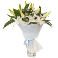 Bouquet of white lilies - flowers and bouquets on roza.kharkov.ua