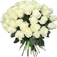 Bouquet of white roses - flowers and bouquets on roza.kharkov.ua