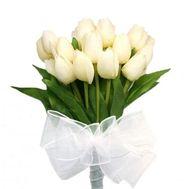 Букет белых тюльпанов - цветы и букеты на roza.kharkov.ua