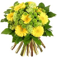 Bouquet of gerberas and chrysanthemums - flowers and bouquets on roza.kharkov.ua