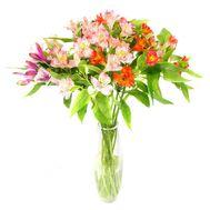 Букет из 11 альстромерий - цветы и букеты на roza.kharkov.ua