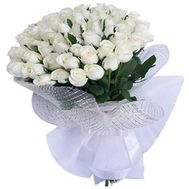 Bouquet of 41 white roses - flowers and bouquets on roza.kharkov.ua