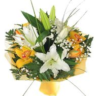 Bouquet of lilies and orchids - flowers and bouquets on roza.kharkov.ua