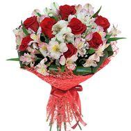 Букет из роз и альстромерий - цветы и букеты на roza.kharkov.ua