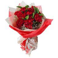 Букет красных гвоздик - цветы и букеты на roza.kharkov.ua