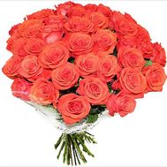 Bouquet of orange roses - flowers and bouquets on roza.kharkov.ua