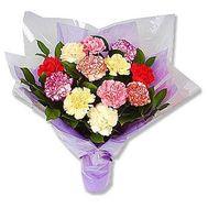 Букет разноцветных гвоздик - цветы и букеты на roza.kharkov.ua