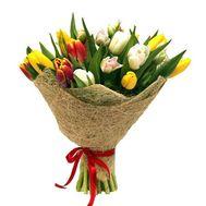 Букет разноцветных тюльпанов - цветы и букеты на roza.kharkov.ua