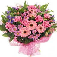 Букет роз и хризантем - цветы и букеты на roza.kharkov.ua