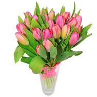 Букет розовых тюльпанов - цветы и букеты на roza.kharkov.ua
