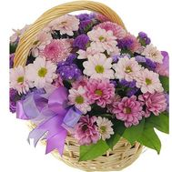 Chrysanthemum Flower Basket - flowers and bouquets on roza.kharkov.ua