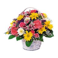 Basket of chrysanthemum flowers - flowers and bouquets on roza.kharkov.ua