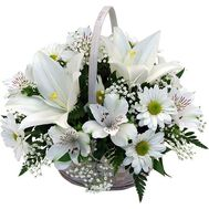 Basket of flowers from lily - flowers and bouquets on roza.kharkov.ua
