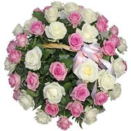 Basket of roses - flowers and bouquets on roza.kharkov.ua