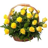 Basket of yellow roses - flowers and bouquets on roza.kharkov.ua