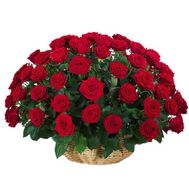 Basket of red roses - flowers and bouquets on roza.kharkov.ua