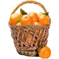 Tangerine basket - flowers and bouquets on roza.kharkov.ua