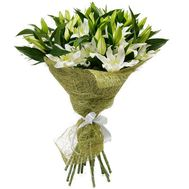 Beautiful bouquet of lilies - flowers and bouquets on roza.kharkov.ua