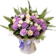 Красивый букет роз и гвоздик - цветы и букеты на roza.kharkov.ua