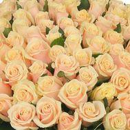 Cream roses per piece - flowers and bouquets on roza.kharkov.ua