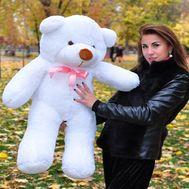Soft toy White bear - flowers and bouquets on roza.kharkov.ua